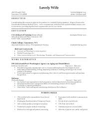 Cna Resume Template Adorable Sample Resume For Cna Resume Samples Fair Resume Samples For With No