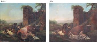 restoration services include applying new varnish cleaning painting