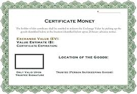 Money Gift Certificate Template Metabots Co
