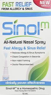 Sinol-M Allergy & Sinus Relief Spray 15 ml: Health ... - Amazon.com
