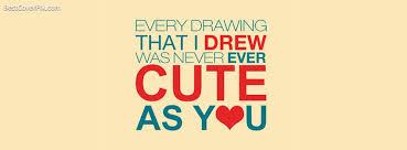 Love Quotes Facebook Mesmerizing Cute Quote Facebook Profile Cover