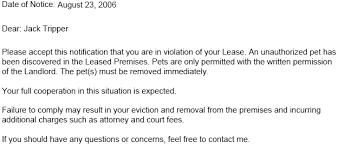 Lease Violations Lease Violation Notice Tenant Violation Notices Ez