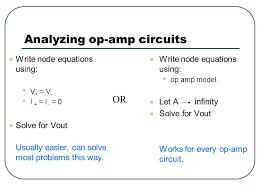 yzing op amp circuits