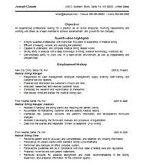 medical billing resume berathencom - Medical Billing Resumes Samples