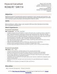 Product Consultant Resumes Financial Consultant Resume Samples Qwikresume