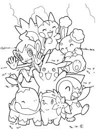 Small Picture Pokemon coloring pages pikachu and friends ColoringStar