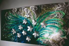 fl art metal wall sculpture abstract home decor painting with regard to most up