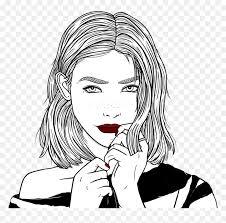 Fotos en blanco y negro o dibujos a lápiz imágenes en taringa. Outlines Chica Tumblr Linda Dibujo Negro Cute Blanco Dibujos En Blanco Y Negro Hd Png Download Vhv