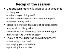 academic writing skills sara steinke ppt  recap of the session undertaken study skills audit of your academic writing skills what