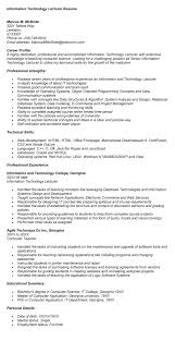 Resume as a university lecturer Free Sample Resume Cover
