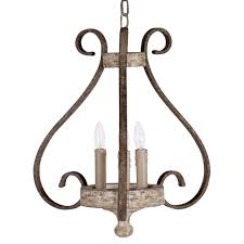 edith french cottage wrought iron chipper white 3 light chandelier