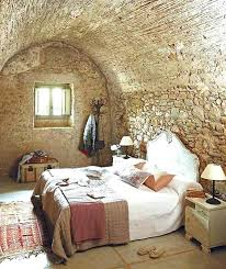 rustic interior design farmhouse bedroom with stone wall decorating ideas style home decor bedr