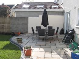 Back Garden After Sandstone Patio