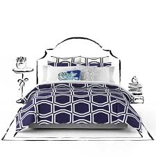 Kate Spade Bedding Kate Spade New York Bow Tile Twin Twin Xl Comforter Set In Navy