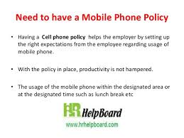 Mobile Phone Policy Of Company By Hrhelpboard
