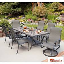 agio campbell 7 piece sling dining set