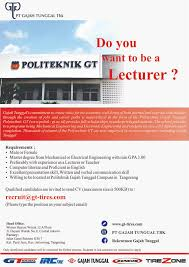 indopoly swakarsa industry membuka program mt untuk s1 t elektro do you want to be a lecturer join vacancy from gajah tunggal as