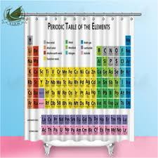 2019 vixm mendeleev chemical element periodic table multicolor shower curtains polyester fabric curtains for home decor from bestory 16 65 dhgate com