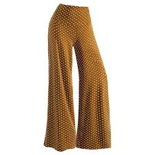 Clearance Womens Stretchy Sexy Vintage Wave Point High Waist Flared Bells Floor Length Pants Bottom Trousers