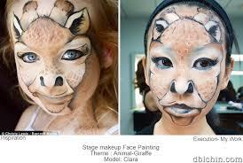 clara giraffe makeup