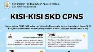 Update Cpns 2019 Kisi Kisi Skd 2020 Dilengkapi Latihan Soal Kunci Jawaban Serta Passing Grade Tribunnews Com Mobile