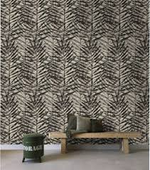 Bolcom Stapelgoed Fotobehang Palm Leaves Beigezwart 900cmx50cm