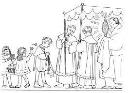 Adoration Procession Of The Eucharist Coloring