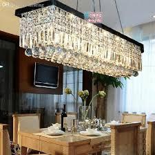 whole rectangular crystal chandelier modern minimalist within remodel 11
