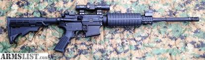 simmons red dot scope. new anderson ar15 with simmons red dot sight along flip-up iron sights for use as a back up. must have sc id. background check required except cwp scope