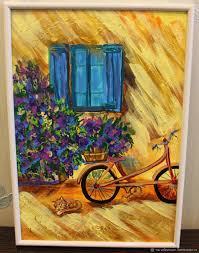 order acrylic painting one day in provence nardetum naradostvam