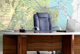 Nautical Chart Wall Mural Nautical Charts Online Wall Mural Installation