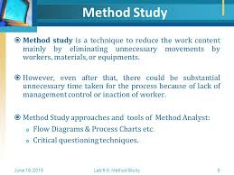 Method Study Charts And Diagrams Method Study Flowcharting Ppt Video Online Download
