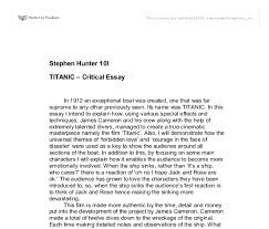 titanic critical essay gcse english marked by teachers com document image preview
