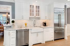 white kitchens. Exellent White Stainless Appliance And White Cabinets For Kitchens I
