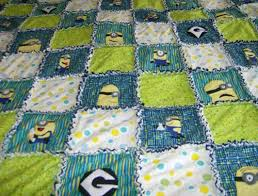 Custom Made Minions Applique Rag Quilt. Custom Colors Available ... & Custom Made Despicable Me Minons Applique Rag Quilt. You Pick The Colors Adamdwight.com