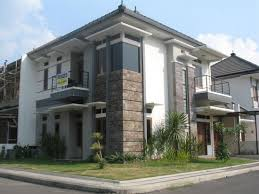 desain tampak depan rumah minimalis modern 1 dan 2 lantai 1000