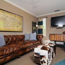 chesterfield sofa in living room.  Room Leather Chesterfield Sofa Anchors Masculine Living Room For In L