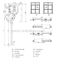 2 sectional diagram of frameless glass door single open sc 1 st ningbo veze automatic door co ltd