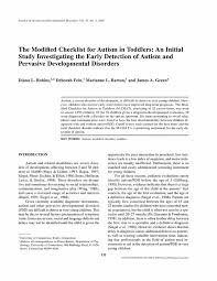best developmental checklists images  the modified checklist for autism in toddlers an initial study investigating the early detection of