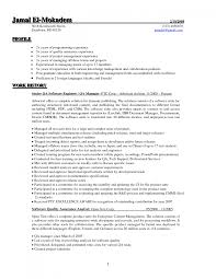 Resume Examples Software Quality Assurance