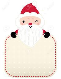 Retro Santa Greeting Card Template Design Vector
