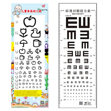 Usd 6 34 Standard Childrens Eye Chart Wall Charts National