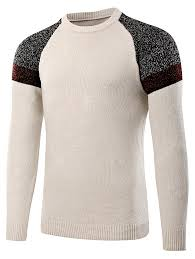 <b>Fashion</b> Round Neck Spliced Sweater for Men Sale, Price ...