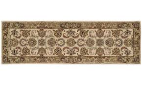 picture of nourison india house hand tufted ivory gold 3x8 rug