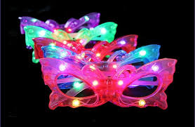 Mask Decorating Supplies Butterfly Led Flashing Glasses Light Up Rave Toys For Halloween 95