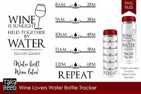 Wine Tracker Wine Lovers Water Intake Tracker