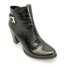 lunar liberty glc453 black patent croc las ankle boot women s shoes top brands lunar