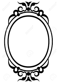 mirror clipart black and white. pin mirror clipart antique #14 black and white