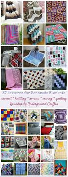 37 patterns for handmade blankets (including crochet, knitting, no-sew,  sewing