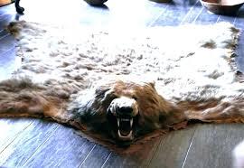 white faux fur bear rug amazing home brilliant animal rugs in monster skin real polar with ikea white fake fur rug polar bear pd international